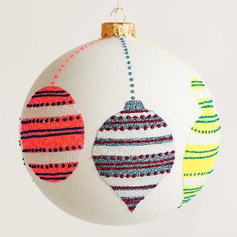 "#1828 - Thomas Glenn ""Deck The Halls"" Ball Ornament"