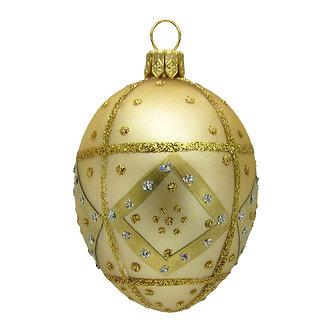 "#418 - Thomas Glenn ""Gold"" Mini Faberge Egg Ornament"
