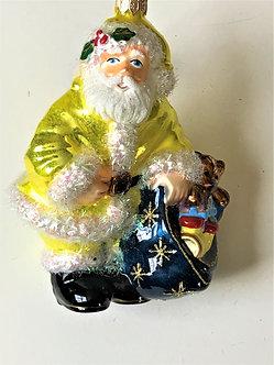 "Thomas Glenn ""Santa - Yellow Coat"" Molded Christmas Ornament"