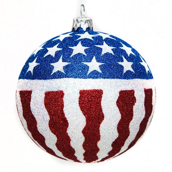 """#1522 - Thomas Glenn """"Stars and Stripes"""" Ball Ornament"""