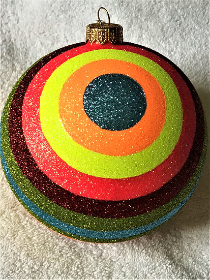 "#1800 - Thomas Glenn ""Cosmic"" Ball Christmas Ornament"