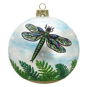 "#1524 - Thomas Glenn ""Dragonflies"" Ball Ornament"