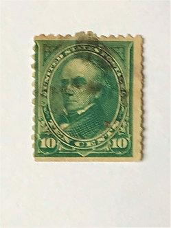 "Stamps ""US 1895 Webster Scott #273"" 10c dark green"