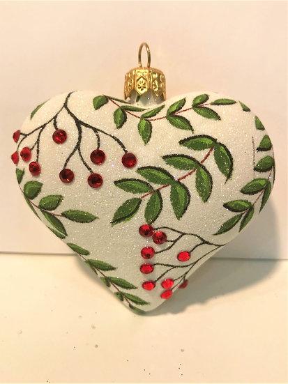 "#1893Heart - Thomas Glenn ""Rowan - Heart"" Molded Christmas Ornament"