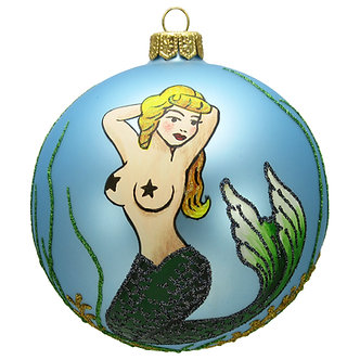 "#1638 - Thomas Glenn ""Mermaid Pin Up"" Ornament"