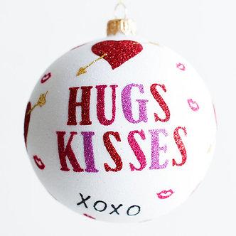 "#1911 - Thomas Glenn ""Hugs and Kisses"" Ball Ornament"