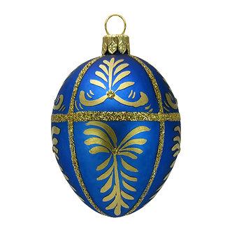 """#417 - Thomas Glenn """"Blue"""" Mini Faberge Egg Ornament"""