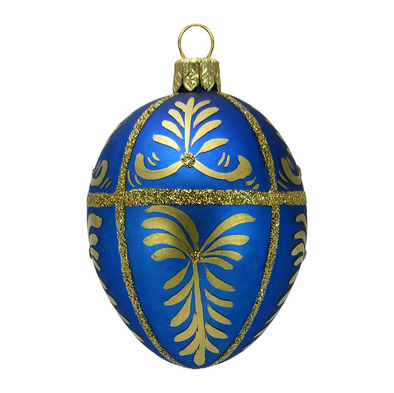 "#417 - Thomas Glenn ""Blue"" Mini Faberge Egg Ornament"