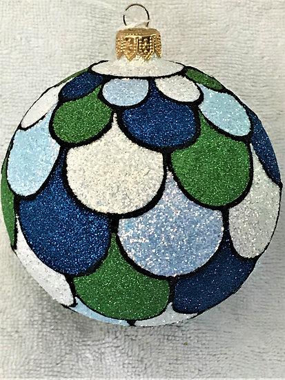 "#1709Wet - Thomas Glenn ""Scales - Wet"" Ball Christmas Ornament"