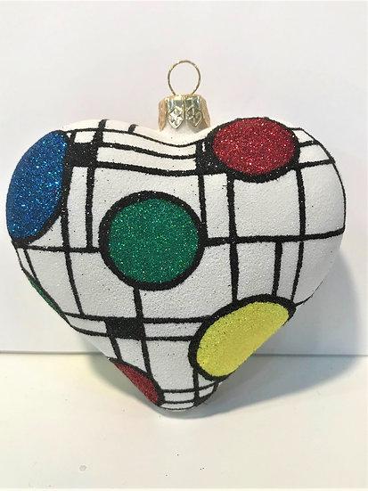 """#1813Heart - Thomas Glenn """"Heart - Wright Way"""" Molded Christmas Ornament"""