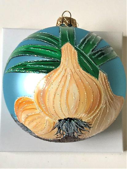 """Thomas Glenn """"Onion"""" Custom Ball Christmas Ornament"""
