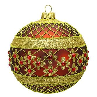 "#635BR - Thomas Glenn ""Brown Coronation"" Ball Ornament"