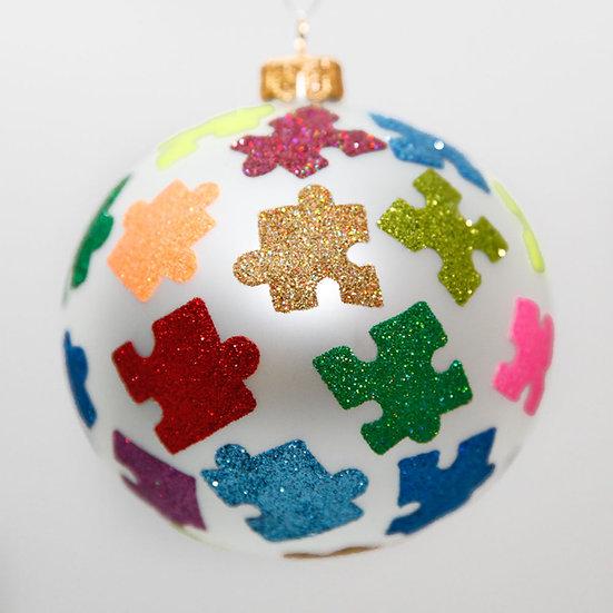 "#2004 - Thomas Glenn ""Jigsaw"" Ball Christmas Ornament"
