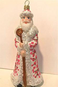 "#1643Santa - Thomas Glenn ""Santa - Plum Blossom"" Molded Christmas Ornament"