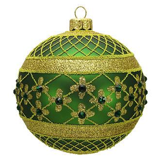 "#635DKG - Thomas Glenn ""Dark Green Coronation"" Ball Ornament"