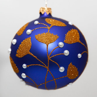 "#2053 - Thomas Glenn ""Ginkgo"" Ball Christmas Ornament"