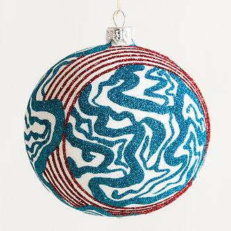 "#1817 - Thomas Glenn ""Seaside"" Ball Ornament"