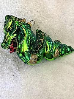 "Thomas Glenn ""Dragon - Green"" Molded Christmas Ornament"