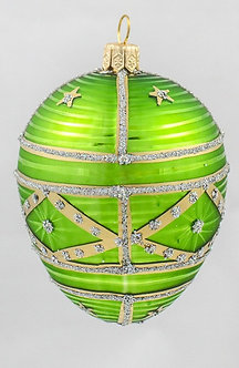 "#322 - Thomas Glenn ""Medium Lime"" Faberge Egg Ornament"