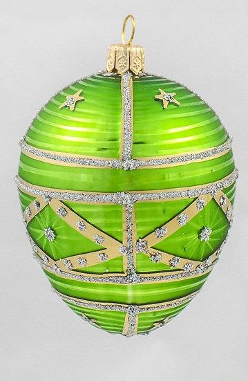 "#322 - Thomas Glenn ""Medium Lime"" Faberge Egg Ornament"