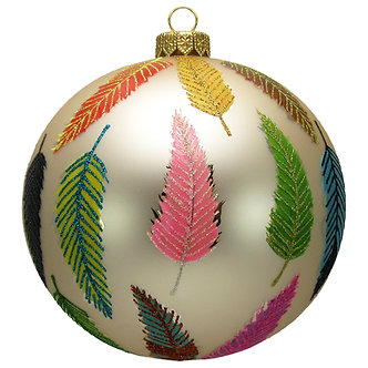 "#1616 - Thomas Glenn ""Feathers"" Ball Ornament"