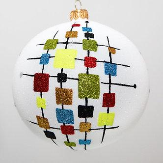 "#2042 - Thomas Glenn ""De Stijl"" Ball Christmas Ornament"