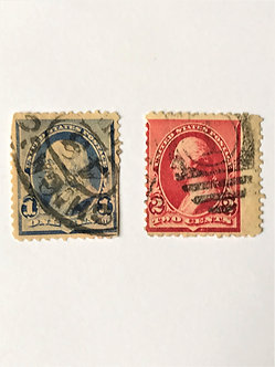 "Stamps ""US 1890-93 Franklin & Washington Issues"" Scott #219 & #220"