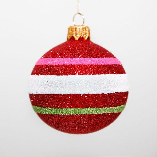 "#2088 - Thomas Glenn ""Red Joy"" Mini Ball Christmas Ornament"