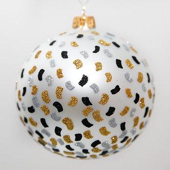 """#2022 - Thomas Glenn """"Confetti"""" Ball Christmas Ornament"""