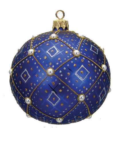"#634B - Thomas Glenn ""Blue Pearl"" Ornament"