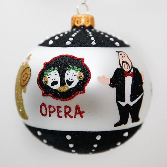 "#2034 - Thomas Glenn ""A Night At The Opera"" Ball Christmas Ornament"