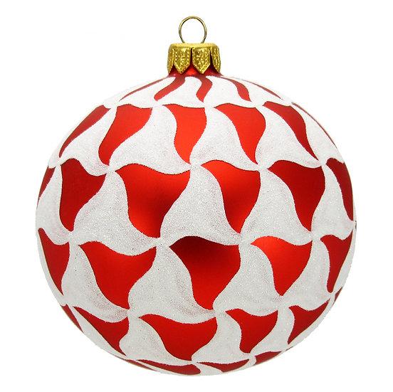 "#515R - Thomas Glenn ""Scallop Red"" Ball Ornament"