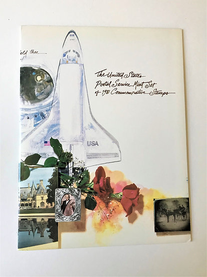 """Stamps """"USPS 1981 Commemorative Yearbook"""" Book & Mint Stamps"""