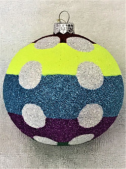 "#1906 - Thomas Glenn ""Dotty"" Ball Christmas Ornament"