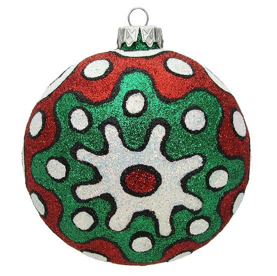 """#1504Xmas - Thomas Glenn """"Christmas Pop Art"""" Ball Ornament"""