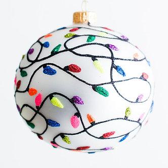 "#1928 - Thomas Glenn ""Merry and Bright"" Ball Ornament"
