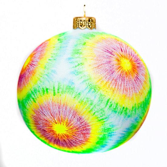"""#817Dye - Thomas Glenn """"Tie Dye"""" Ball Ornament"""