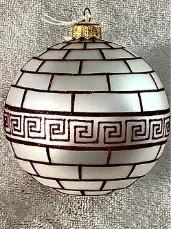 "#1631 - Thomas Glenn ""Grecian Wall"" Ball Christmas Ornament"