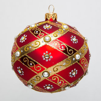 "#766 - Thomas Glenn ""Spiral Pearl"" Ball Ornament"