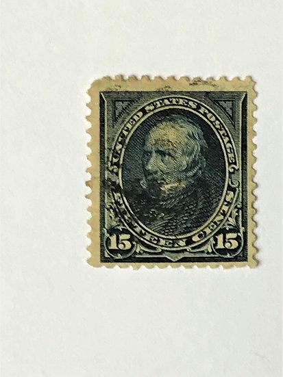 """Stamps """"US 1895 Clay Scott #274"""" 15c dark blue"""