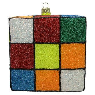 "#200C - Thomas Glenn ""Multicolored Rubix"" Cube Ornament"