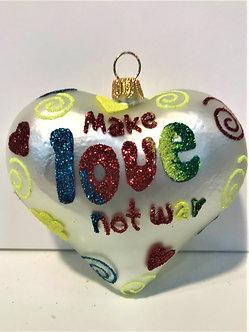 """#1929Heart - Thomas Glenn """"Heart - Make Love Not War"""" Molded Christmas Ornament"""