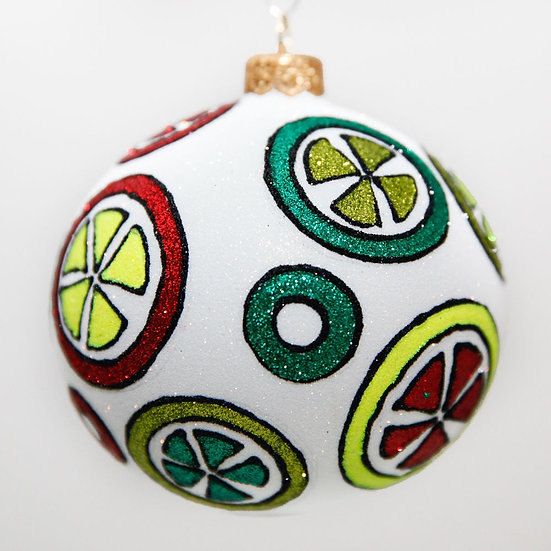 "#2012 - Thomas Glenn ""Fruit Loops"" Ball Christmas Ornament"