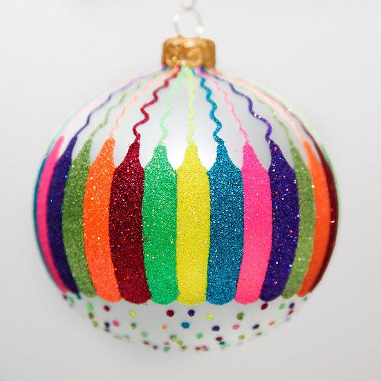 "#2031 - Thomas Glenn ""Color Outside the Line"" Ball Christmas Ornament"