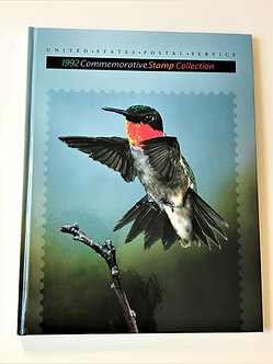 """Stamps """"1992 USPS Yearbook with Mint Stamps"""" 1992 Commemoratives Collection"""