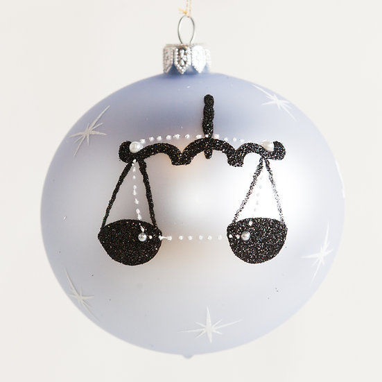 "#1860 - Thomas Glenn ""Libra"" Zodiac Christmas Ball Ornament"