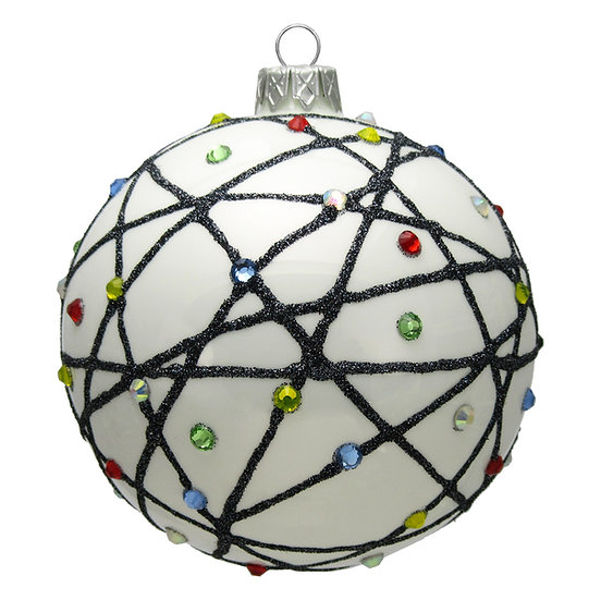 "#1602 - Thomas Glenn ""Tangled Lights"" Ball Ornament"