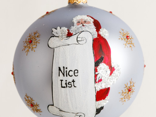 "Naughty or Nice??  ""The List"" Christmas Ornament by Thomas Glenn Holidays"