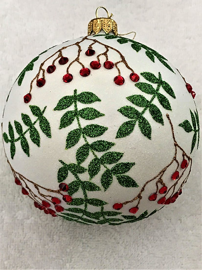 "#1893 - Thomas Glenn ""Rowan"" Ball Christmas Ornament"