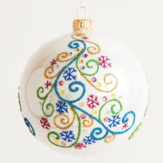 "#1827 - Thomas Glenn ""Trimmed Trees"" Ball Ornament"